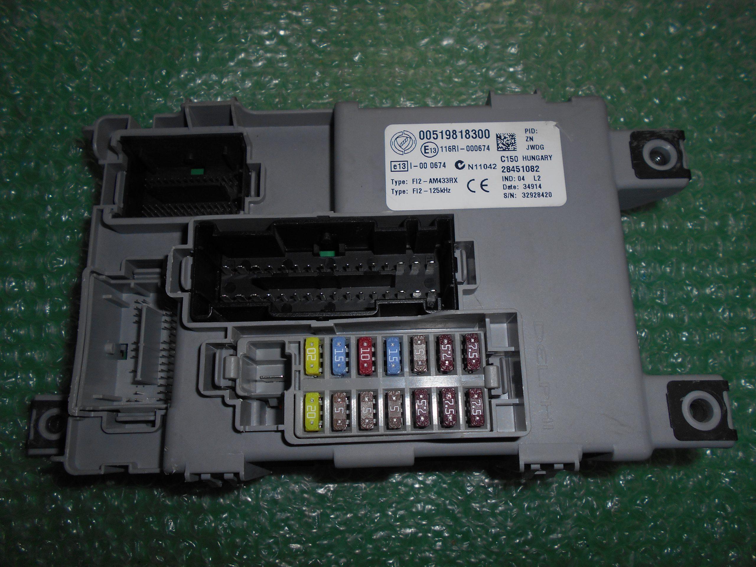 MODULO BODY COMPUTER 519818300 FIAT 500 ABARTH (2007-2014)