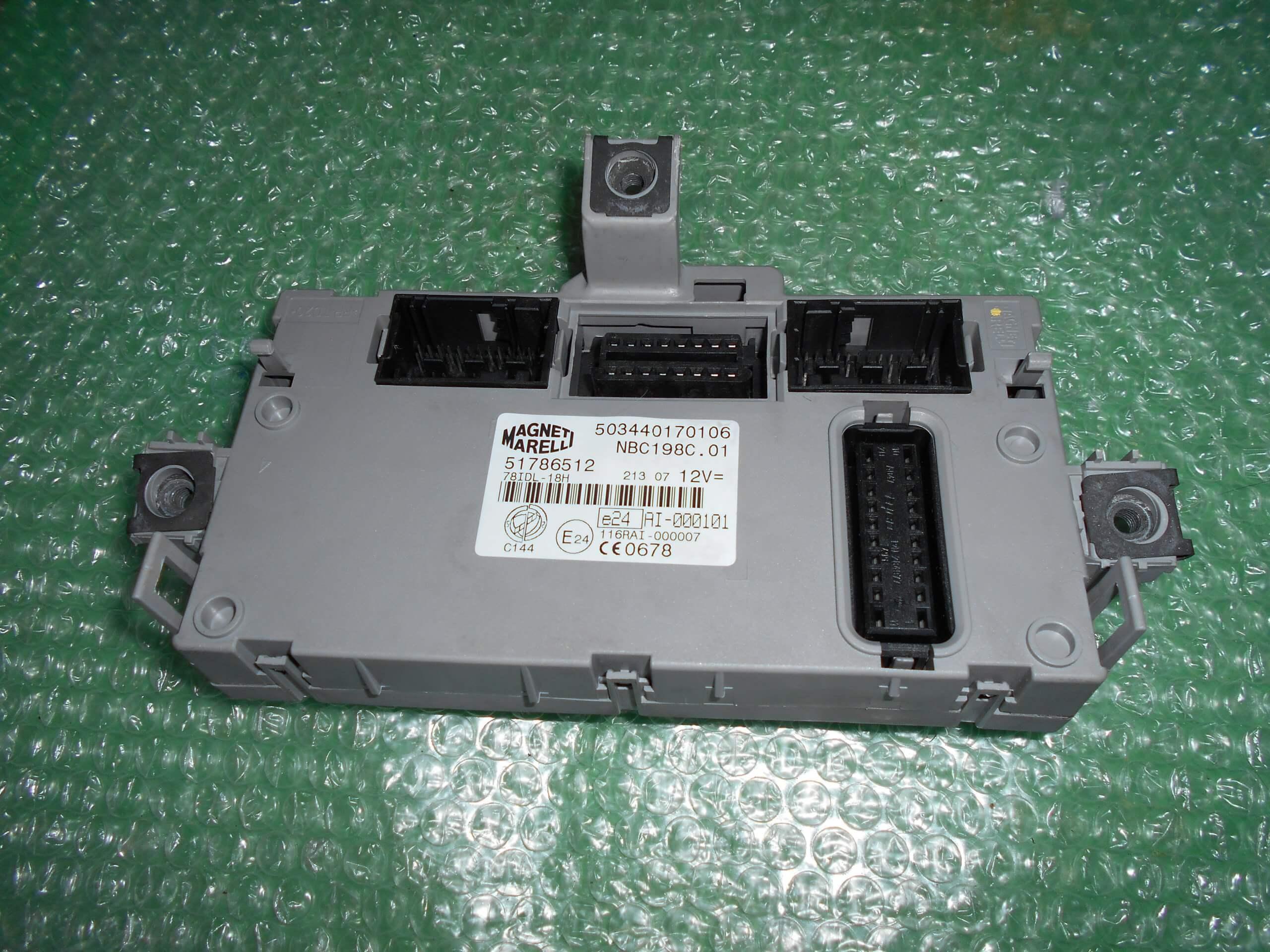 MODULO BODY COMPUTER 51786512 – MAGNETI MARELLI 503440170106 FIAT BRAVO II (198)(2007-2012)