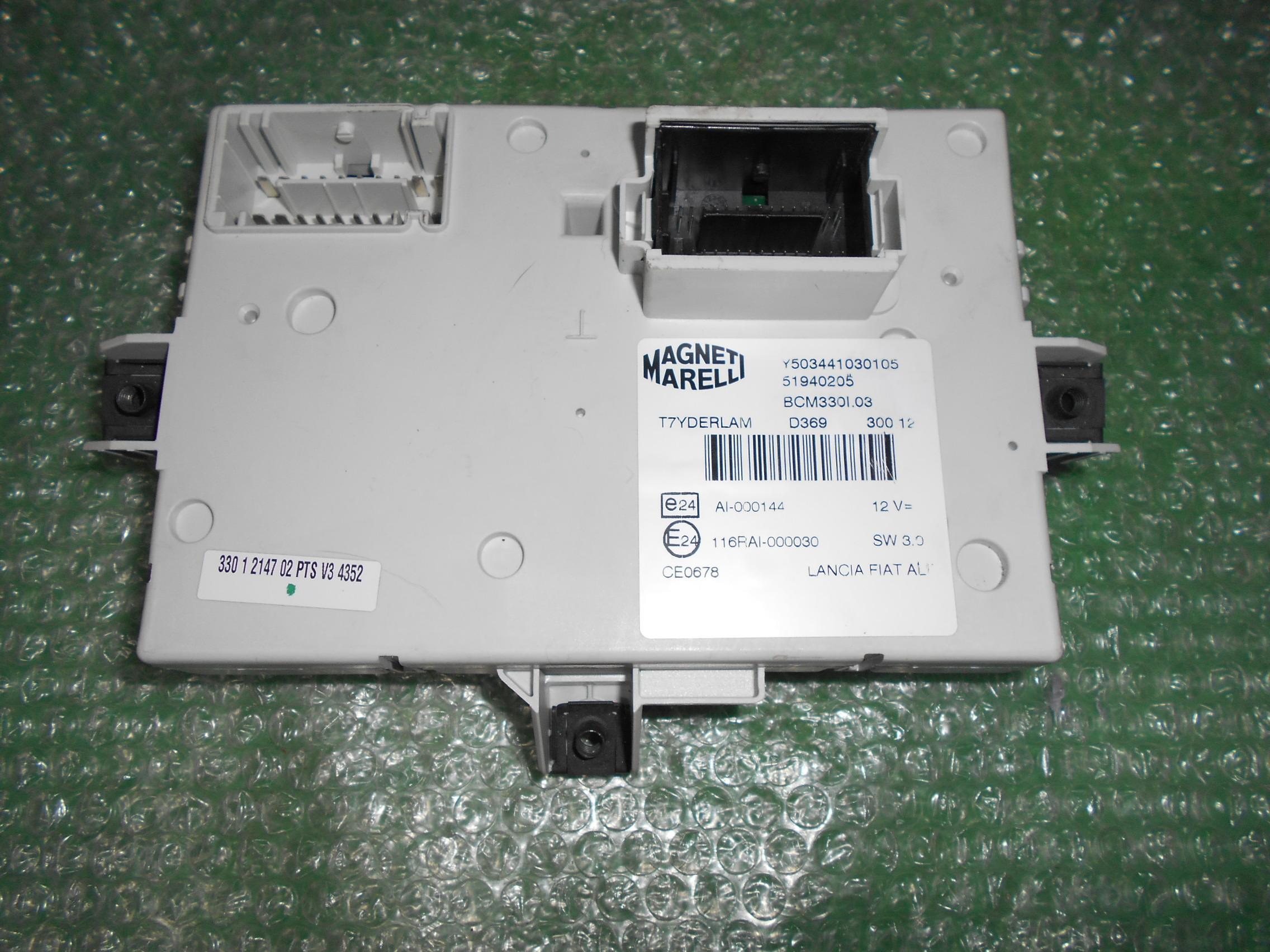 MODULO BODY COMPUTER 51940205 – MAGNETI MARELLI Y503441030105 FIAT 500L (2012-2018)